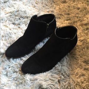 Crown Vintage Black Suede Bootie- Size 8.5- GUC